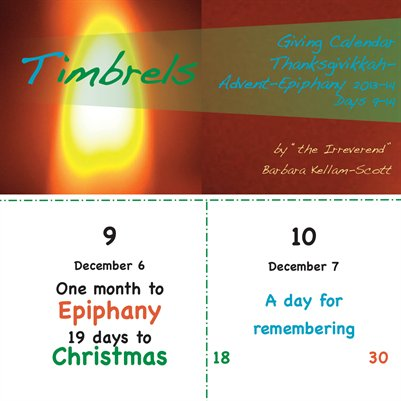 Timbrels Giving Calendar 9-14