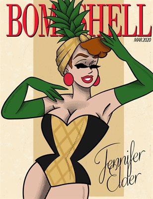 BOMBSHELL Magazine March 2020 BOOK 1 - Jennifer Elder Cover
