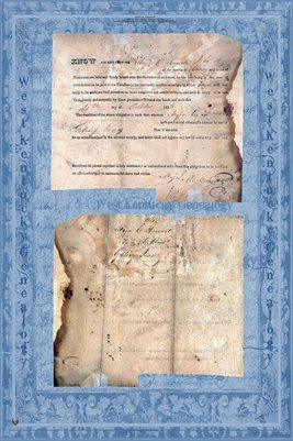 1823 Marriage Certificate, Major C. Howell to Gatsey Jones, Maury County, Tennessee