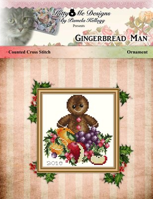 The Gingerbread Man Cross Stitch Christmas Ornament Pattern