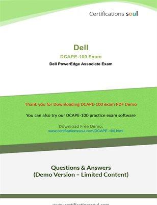 Dell DCAPE 100 Dumps Exam