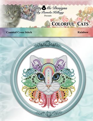 Colorful Cats Rainbow Counted Cross Stitch Pattern