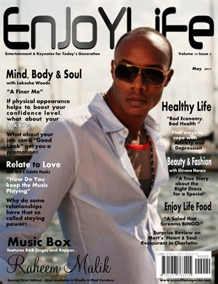 Enjoy Life Magazine Vol. 10 Issue 3, Raheem Malik