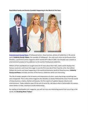 Celebrity Gossip and News