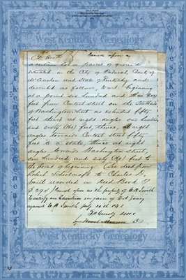 (PAGES 1-2) 1872 F.A. Juney vs. C.D. Smith, McCracken County, Kentucky