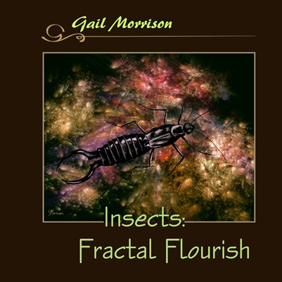 Gail Morrison Insects: Fractal Flourish, square