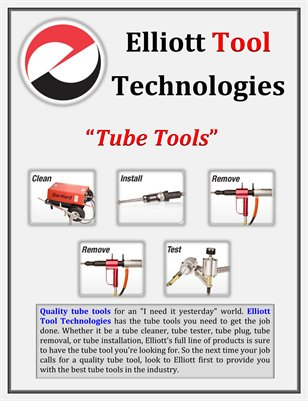 Elliott Tool Technologies: Tube Tools