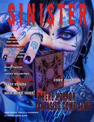 SINISTER Magazine-Issue #1-Cory Mortish Cover