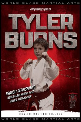 Tyler Burns Red Barb Wire Poster