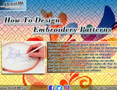 How To Design Embroidery Patterns