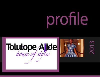 Tolulope Ajide House of Styles