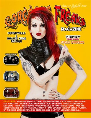 Issue 33 Fetishwear & Implied Nude Edition Cover Model: Shelly D'Inferno