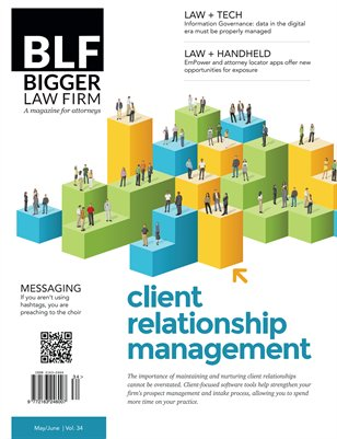 Client Relationship Management for Lawyers - May June 2015