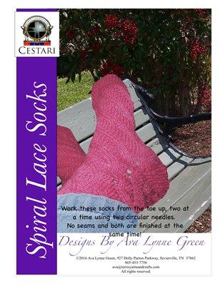 Spiral Lace Socks