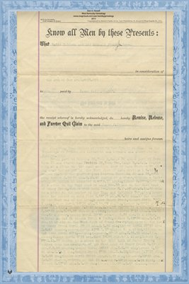 (PAGES 3-4) 1889 Deed, Brown to Studebaker, Miami County, Ohio