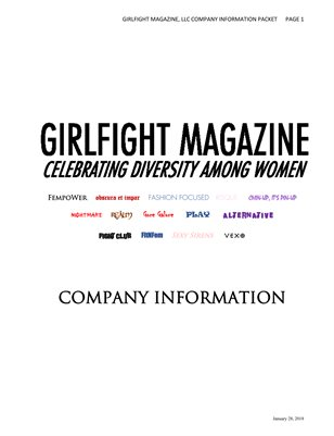 GIRLFIGHT Magazine Company Information