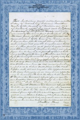 1857 Demossville, Kentucky deed: Jonathan Morris to Enos K. Mullins