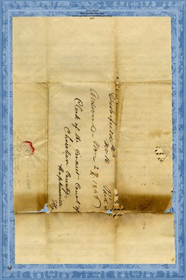 (Pages 1-2) 1846 Letter Dr. John Logan in Chesterfield, IL. to Circuit Clerk in Hopkinsville, Kentucky Looking for J.L.W. Moore