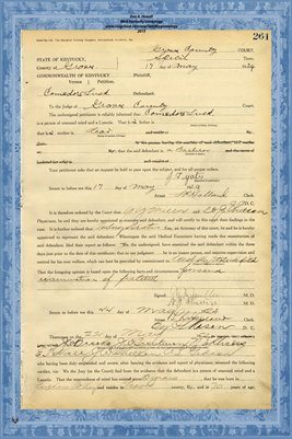 1924 State of Kentucky vs. Comodore Lusk, Graves County, Kentucky