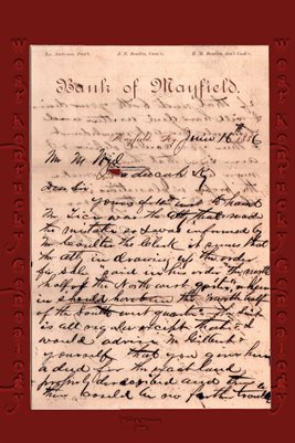 1886 BANK OF MAYFIELD , W.A. BEADLES LETTER, GRAVES COUNTY, KENTUCKY