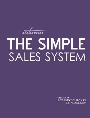 Simple Sales System Workbook