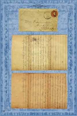 1922 Moore to Durden letter, Ballard County, Kentucky