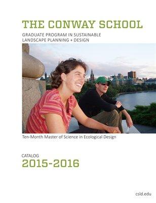 Conway School 2015-2016 Catalog