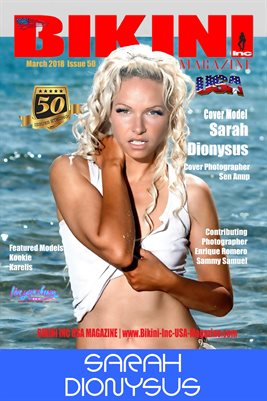 BIKINI INC USA MAGAZINE COVER POSTER - Cover Model Sarah Dionysus - March 2018