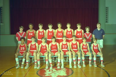 FEB. 19, 1971 BRAZELTON JUNIOR HIGH BASKETBALL TEAM, MCCRACKEN COUNTY, KENTUCKY