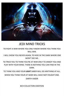 DARKSIDE JEDI MIND TRICKS, DARTH VADER TOYS WITH THE MIND OF JEDI.