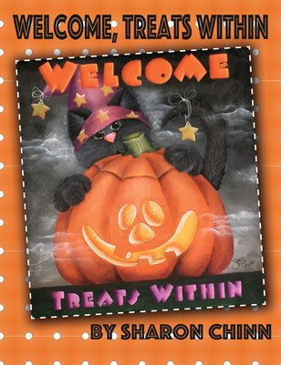 Welcome, Treats Within Halloween Sign by Sharon Chinn