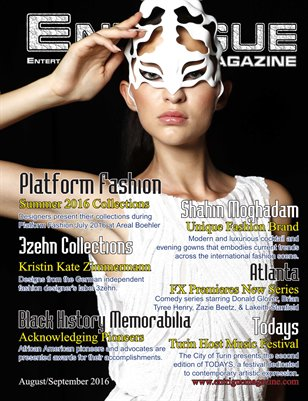 Entrigue Magazine August/September 2016