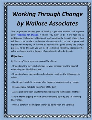 Working Through Change by Wallace Associates