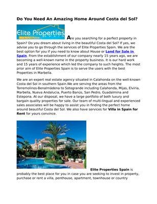 Elite Properties Spain