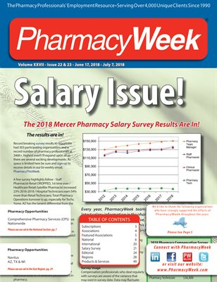 Pharmacy Week, Volume XXVII - Issue 22 & 23 - June 17, 2018 - July 7, 2018