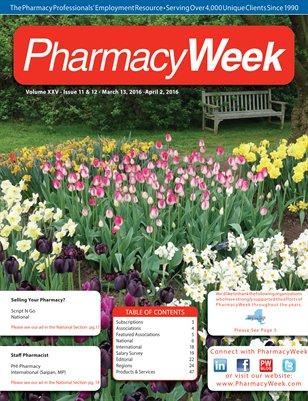 Pharmacy Week, Volume XXV - Issue 11 & 12 - March 13, 2016 - April 2, 2016