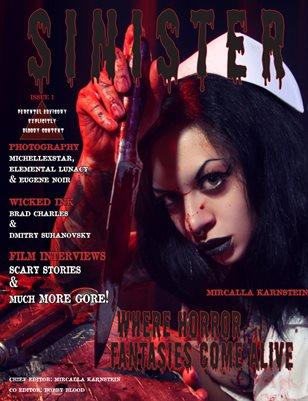 SINISTER Magazine-Issue #1-Mircalla Karnstein Cover