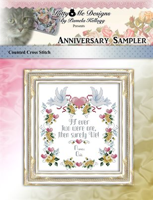 Anniversary Sampler Cross Stitch Pattern