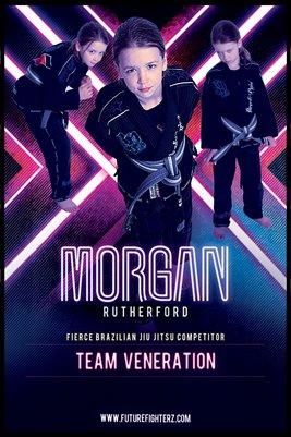 Morgan Rutherford Stripes - Poster