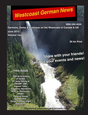 Westcoast German News - June 2013 Edition