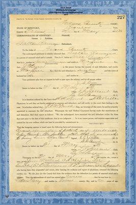 1923 State of Kentucky vs. Dalton Ramage, Graves County, Kentucky