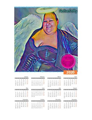 NativeFatty Ample Angelz 2020 Calendar