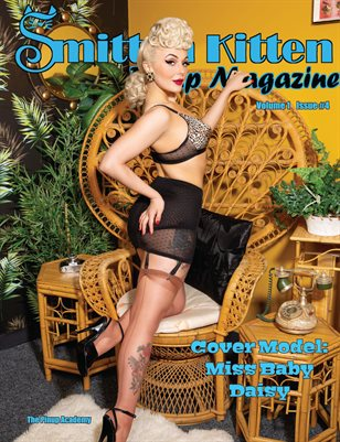 Smitten Kitten Pinup Magazine Cover 1 Miss Baby Daisy April 2020 Issue