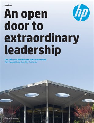 An Open Door to Extraordinary Leadership: The Offices of Bill Hewlett and Dave Packard