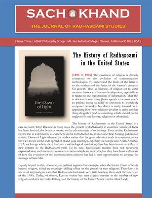 The History of Radhasoami in the United States