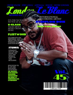 London Le'Blanc Magazine Vol. 45- Stunna Exclusive