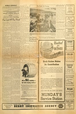 (PAGES 5-6) JUNE 29, 1944 MURRAY DEMOCRAT NEWSPAPER
