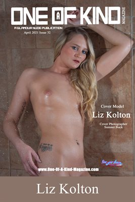 ONE OF A KIND MAGAZINE COVER POSTER - Cover Model Liz Kolton - April 2021