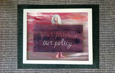 A Sense of Privacy - painted medical privacy notice