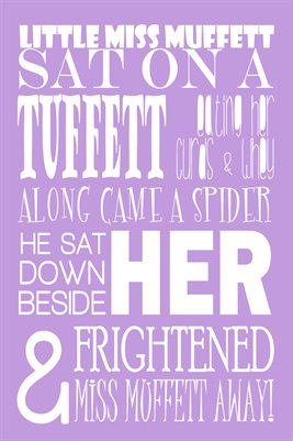 Little Miss Muffett - Children's Nursery Rhyme in Purple